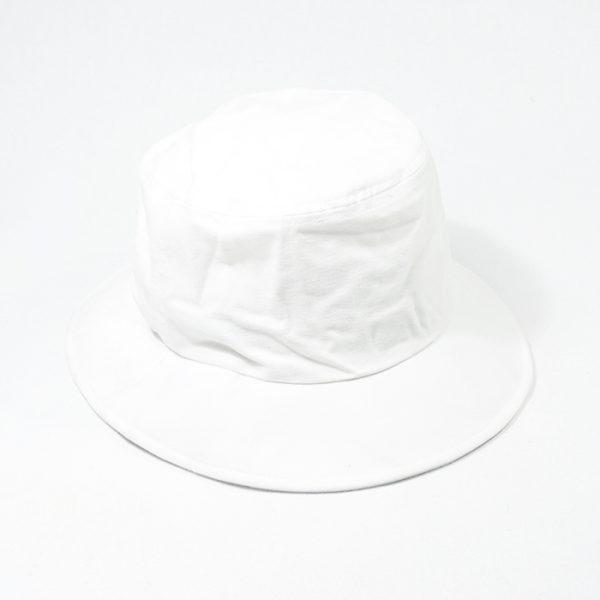 หมวกปีกรอบสีขาวล้วน
