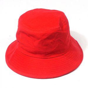 หมวกปีกรอบสีแดงล้วน
