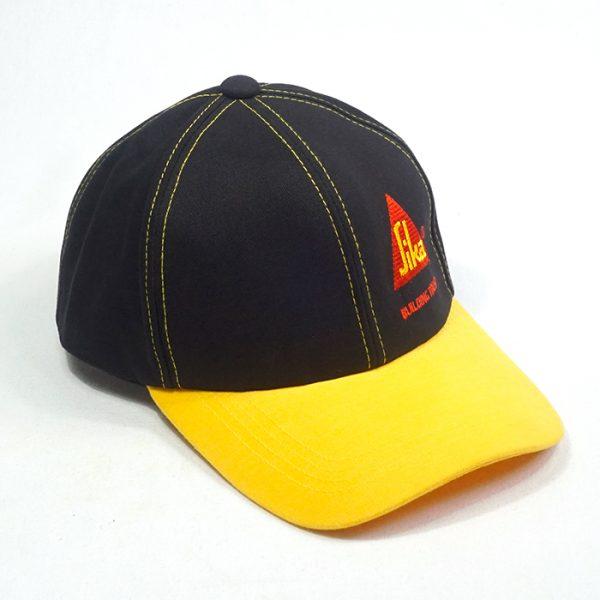 รับผลิตหมวกแก๊ปทูโทนสีเหลืองดำ