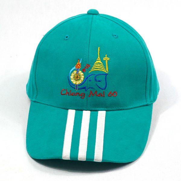 หมวกแก๊ปตัดต่อสีเขียว