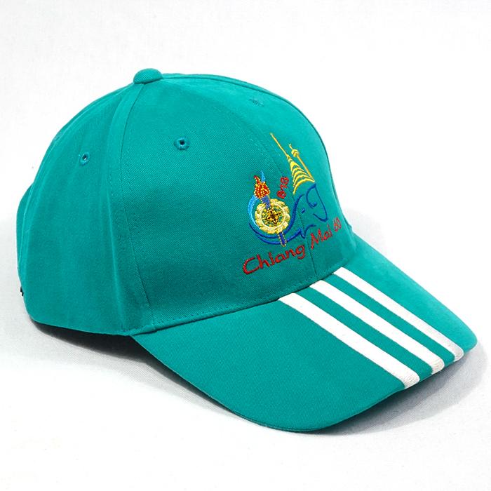 หมวกแก๊ปสีล้วนปักปีกหมวก ChiangMai