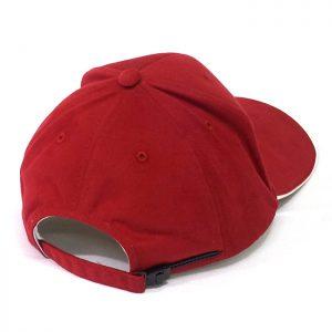 ผลิตหมวกแก๊ปตัดต่อสีแดงขาว