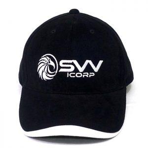 ผลิตหมวกแก๊ปตัดต่อสีดำขาว