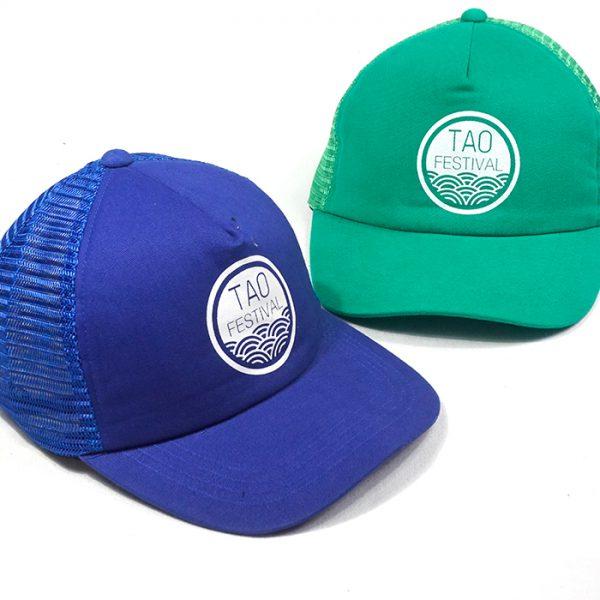 ผลิตหมวกแก๊ปตาข่ายสีล้วน