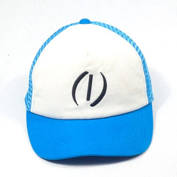 หมวกแก๊ปตาข่ายสีฟ้า