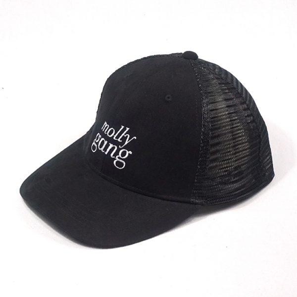 หมวกแก๊ปตาข่ายสีดำล้วน