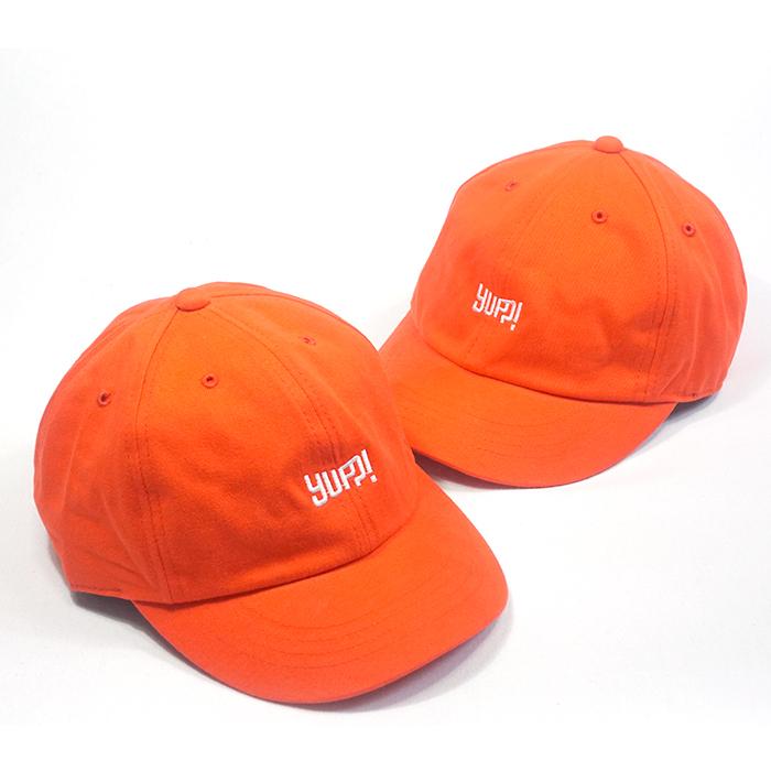 หมวกแบรนด์สีส้ม YUP