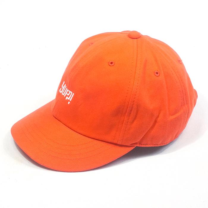 หมวกแก๊ปสีส้ม