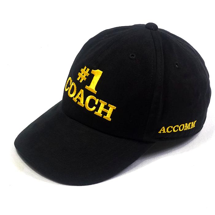 ทำหมวกแบรนด์สีดำ