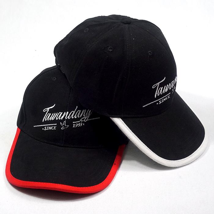 หมวกแก๊ปสีล้วน กุ้นปีกหมวก Tawandany