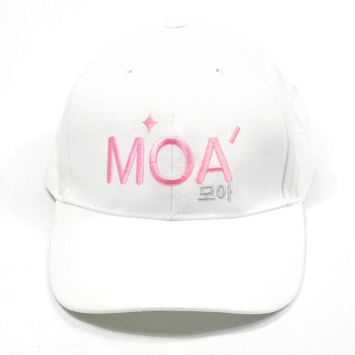 หมวกแก๊ปสีขาวล้วนMOA