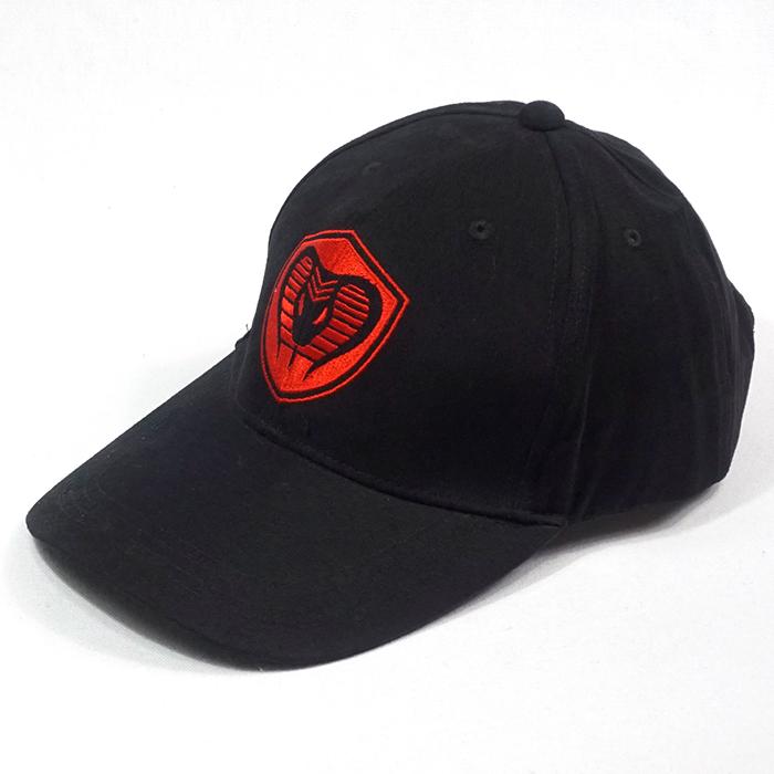 หมวกแก๊ปสีดำงานงู