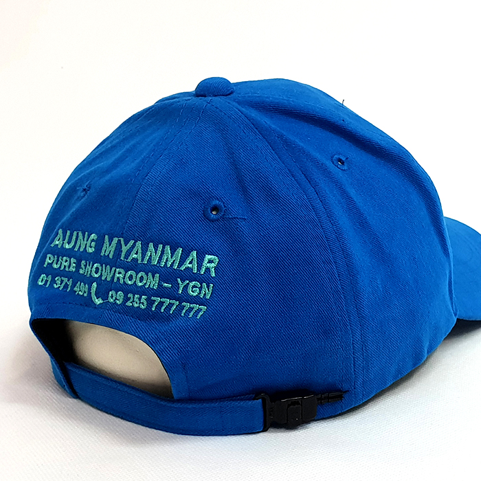 หมวกแก๊ปสีฟ้าเข้มล้วน