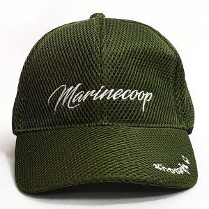 หมวกแก๊ปสีล้วน ผ้าเมทเขียว