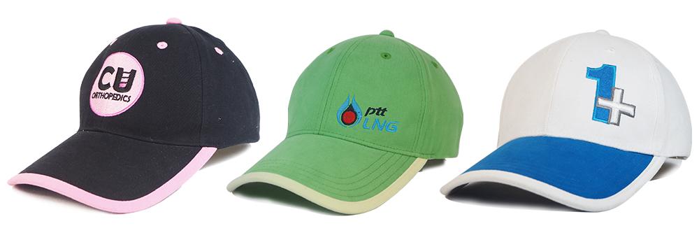 หมวกแก๊ป แบบกุ้นปีกหมวก