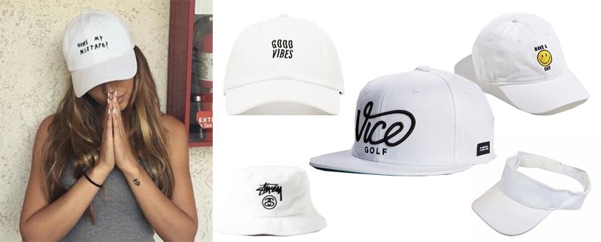 หมวกสีขาว