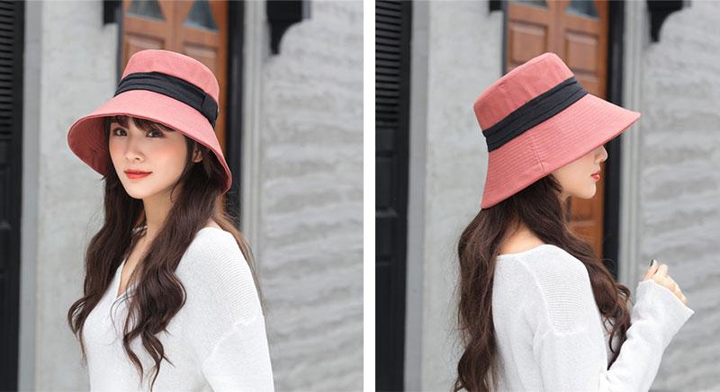 หมวกปีกรอบ-มีผ้าคาดกลางรอบหมวก