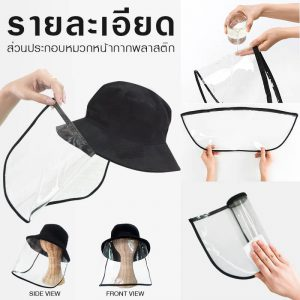 หมวกหน้ากากพลาสติก